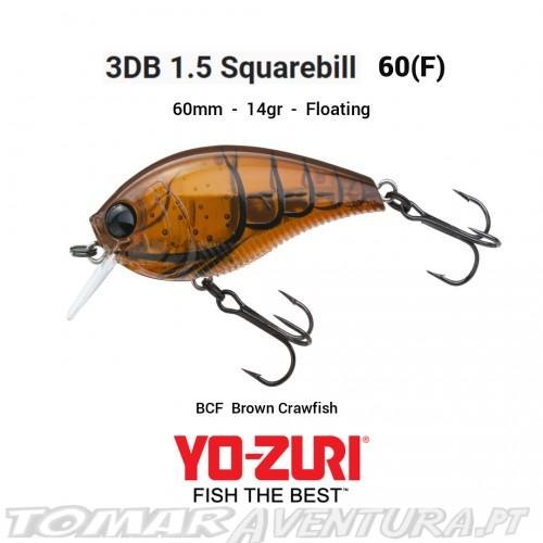 Amostra Yo-Zuri 3DB 1.5 Squarebill 60 F