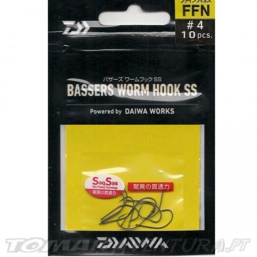 Anzol Daiwa Bassers Worm Hook SS FFN