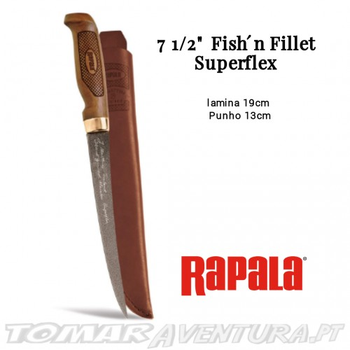 "Faca Rapala 7 1/2"" Fish´n Fillet Superflex"