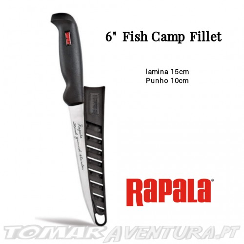 "Faca Rapala 6"" Fish Camp Fillet"