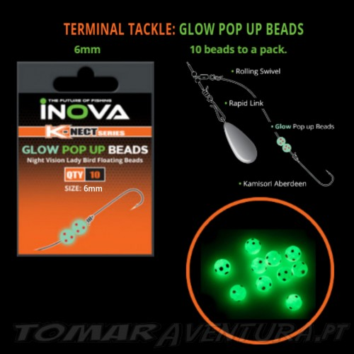 Inova Glow Pop Up Beads 6mm