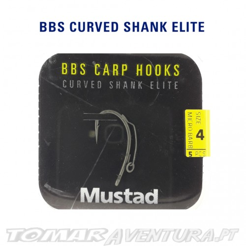 Anzois Mustad BBS Carp Hooks Curved Shank Elite