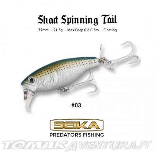 Amostra Seika Shad Spinning Tail Sea/F WB55B-03