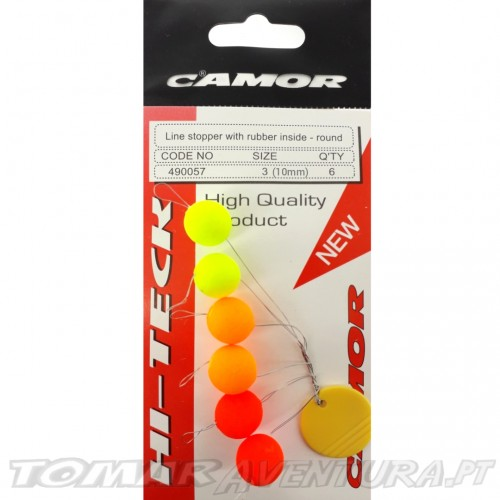 Camor Line Stopper Whith Rubber Inside - Round 10mm