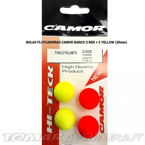 Bolas Flutuadoras Camor barco 2 Red + 2 Yellow  20mm