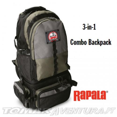Mochila Rapala 3 IN 1 Combo Back Pack