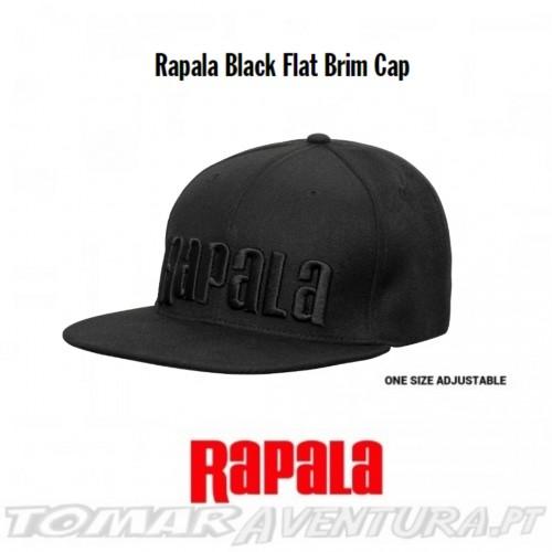 Rapala Rapala Black Flat Brim Cap