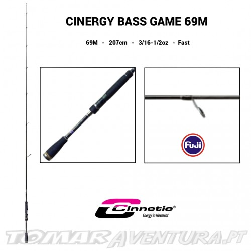 Cana Cinnetic Cinergy Bass Game Spinning 69M 8541
