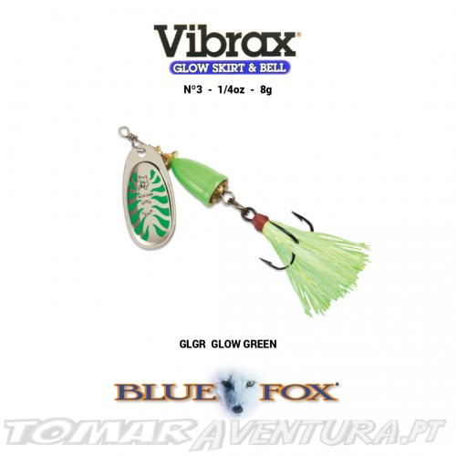 Amostra Blue Fox Vibrax Glow Skirt & Bell 3