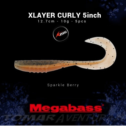 Megabass Xlayer Curly 5inch