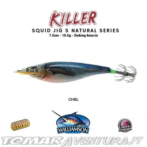 Williamson Squid Jig Natural Series Glow S