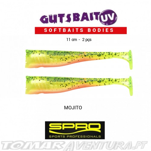 Spro Gutsbait UV Softbaits Bodies 10cm