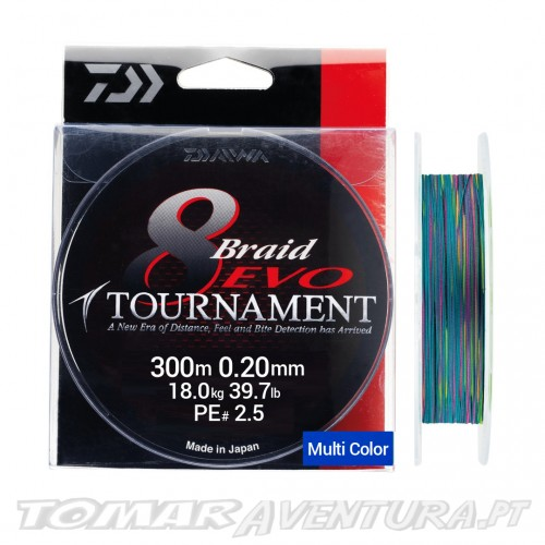Daiwa Tournament 8 Braid EVO Multi Color 300m