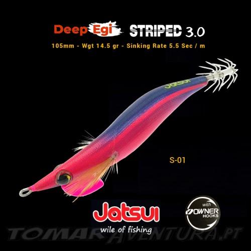 Squid Jig jatsui Deep Egi Striped