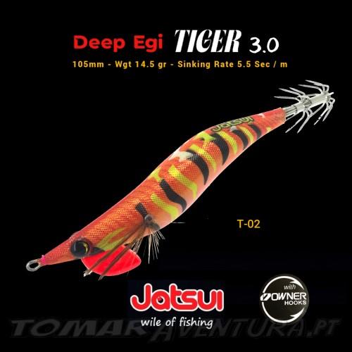 Squid Jig jatsui Deep Egi Tiger