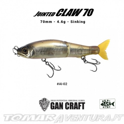 Swimbait Gan Craft Jointed Claw 70