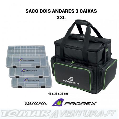 Saco Daiwa Prorex dois andares com 3 caixas XXL
