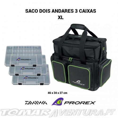 Saco Daiwa Prorex dois andares com 3 caixas XL