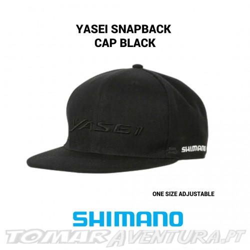 Chapeu Shimano Yasei Snapback Cap Black