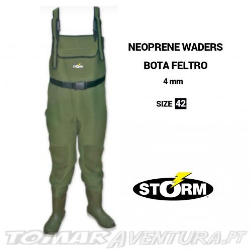 Storm Neoprene Waders 4 mm Bota Feltro