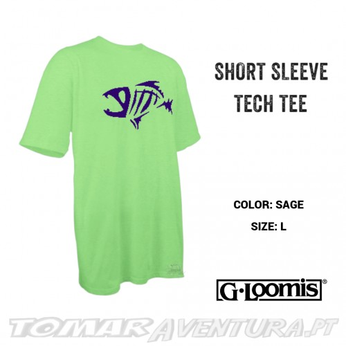G-Loomis Short Sleeve T-Shirt Tech Tee - Sage