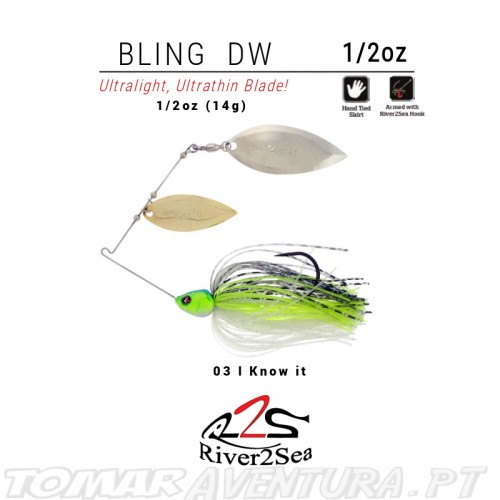 Amostra Spinerbait River2sea Bling DW 1/2oz