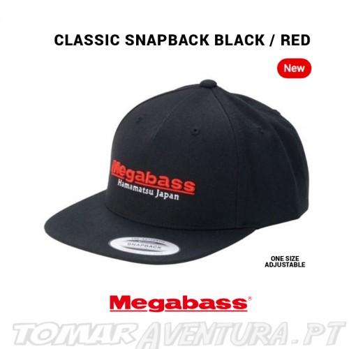 Chapeu Megabass Classic Snapback Black/Red