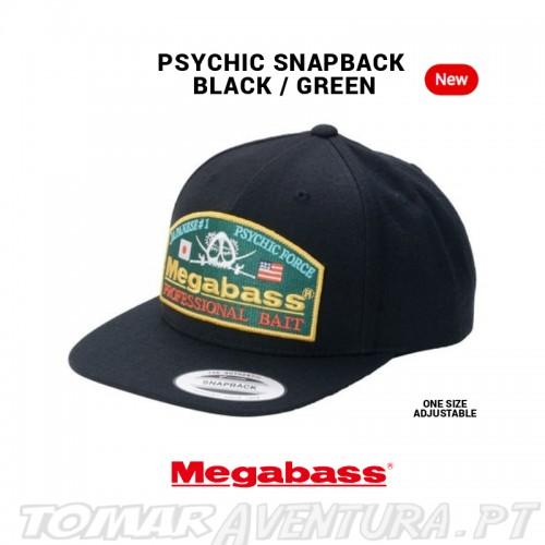 Chapeu Megabass Psychic Snapback Black/Green