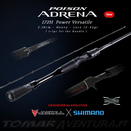 Jackall shimano Poison Adrena Baitcasting 172H Power Versatile