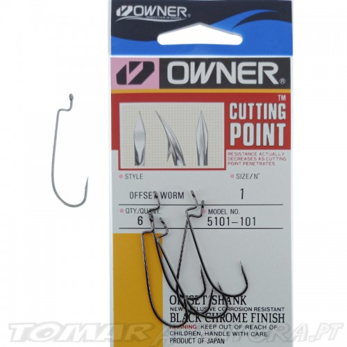 Anzois Owner Offset Worm 5101-141