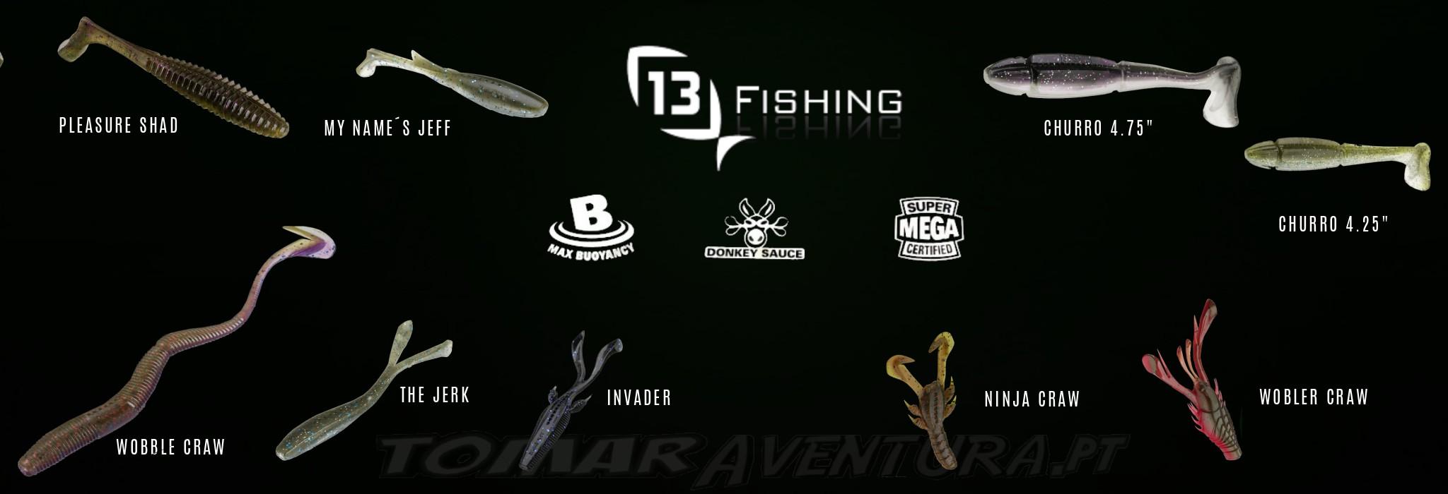 13 FISHING SOFT BAITS